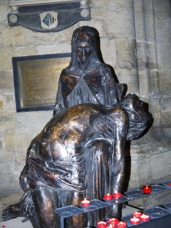 reredos: Pieta in Ripon Cathedral Yorkshire England