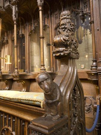 talla en madera: Woodcarving en la catedral de Ripon en Yorkshire Inglaterra