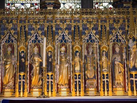 reredos: Altar of the Cathedral of Ripon in Yorkshire England