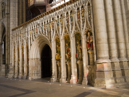 reredos: The Reredos of Ripon Cathedral in Yorkshire England