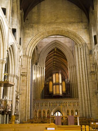 Altar of the Cathedral of Ripon in Yorkshire England Stock Photo - 17985832