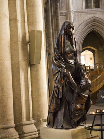 Statue of mother and child in Ripon Cathedral in Yorkshire England Stock Photo - 18002131