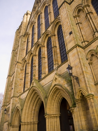 The facade of cathedral of St Wilfrid in Ripon Yorkshire Stock Photo