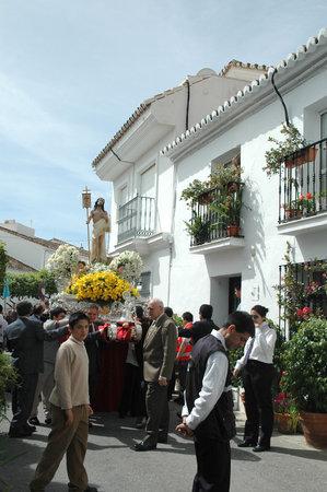 procession: Procesi�n de Pascua en Benalmadena Pueblo Andaluc�a Espa�a