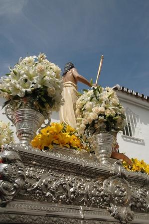 pueblo: Easter Procession at Benalmadena Pueblo Andalucia Spain Stock Photo