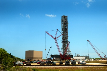 cape canaveral: The Kennedy Space Centre, Cape Canaveral, Florida, USA Stock Photo