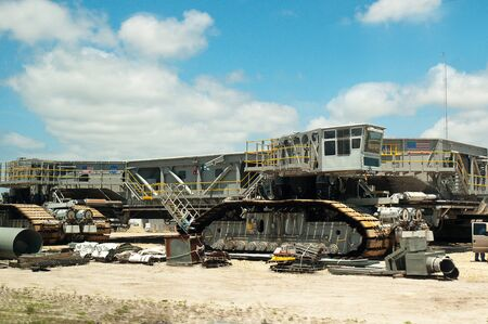 cape canaveral: Crawler vehicle that takes the shuttle to the Launch Pad at Cape Canaveral Florida