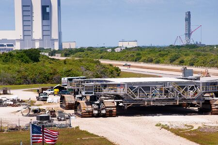 Crawler vehicle that takes the shuttle to the Launch Pad at Cape Canaveral Florida