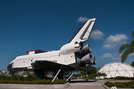 Former Shuttle Vehicle now a Museum Exhibit at the Kennedy Space Centre Florida