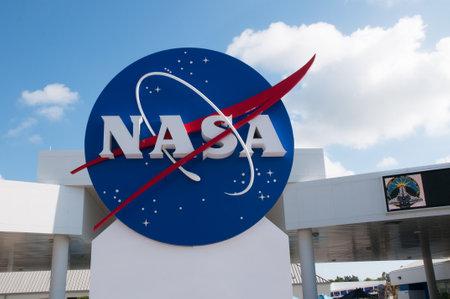 NASA teken op het Kennedy Space Center in Florida USA