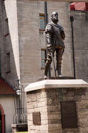 Statue of Don Pedro Menendes De Avila 1518 to1574 St Augustine Florida USA photo