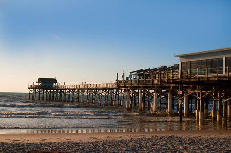 surf shop: Beautiful Beach and pier in Cocoa Beach Florida USA