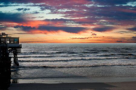 cocoa beach: Beautiful Sunset in Cocoa Beach Florida USA