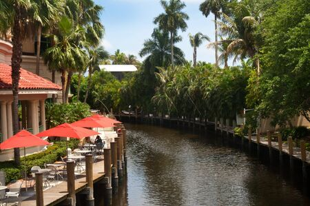 Quiet side canal in Miami Florida USA photo