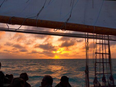 Sunset Sailing trip off Key West Florida USA photo