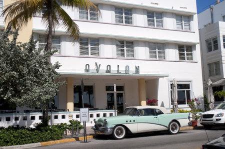 Art Deco Hotel on Ocean Drive in South Beach, Miami, Florida USA