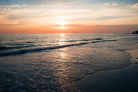 petes: Sunset over the beach in St Petes Florida USA
