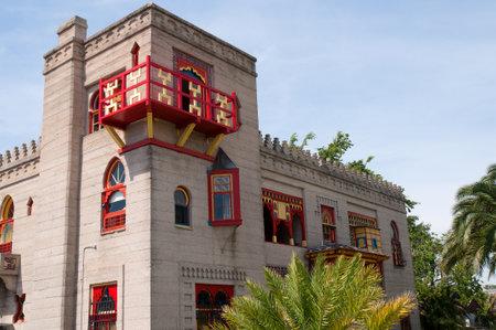 Villa Zorayda Museum in Moorish style in the city of St Augustine Florida USA