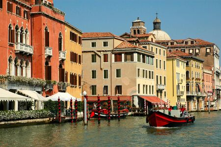 Every corner in Venice discloses a different face of the city  La Serenissima is beautiful at all times of the day  Stock Photo - 18431364