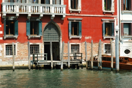 gondoliers: Buildings on the Grand Canal in Venice Italy