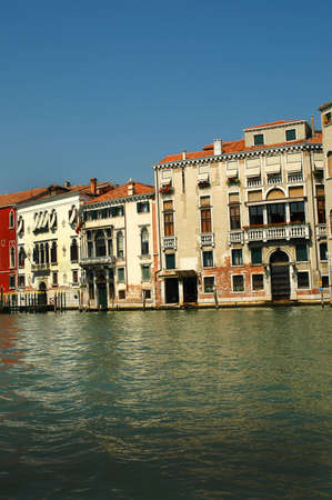 Buildings on the Grand Canal in Venice Italy photo