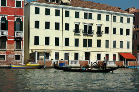Gondola on the Grand Canal in Venice Italy Stock Photo - 18471112