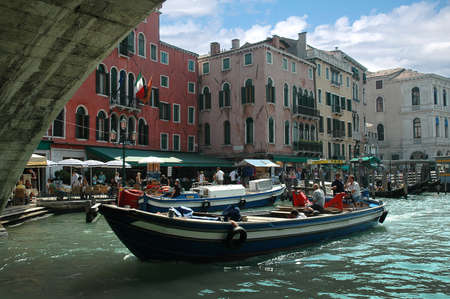 busy corner of the Grand Canal Venice Italy Stock Photo - 18471046