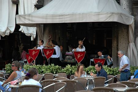 st marks square: The Famous Florians Cafe in St marks Square Venice Italy