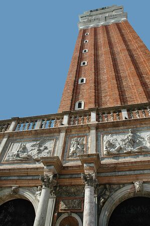 doges: the Campanile or bell tower of St Marks Cathedral in Venice Italy