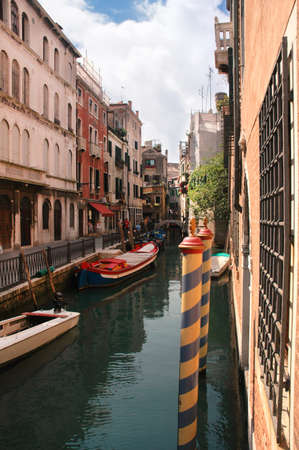 Quiet side canal in Venice Italy Stock Photo - 18509972