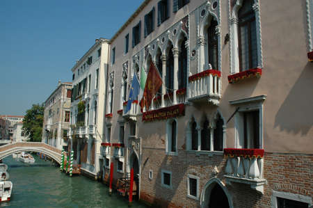 Buildings on the Grand Canal in Venice Italy Stock Photo - 18509970
