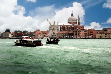 Sailing ship with Lateen Sail in the Gesuiti Area of Venice Italy Stock Photo - 18559766