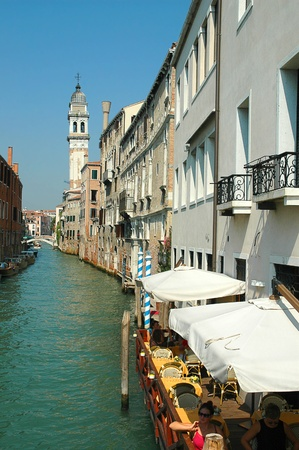 Quiet side canal in Venice Italy Stock Photo - 18536787