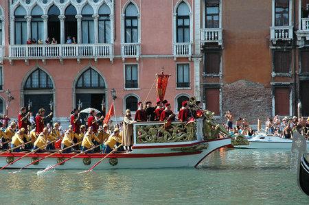 The Annual Regatta along the Grand Canal in Venice Italy Stock Photo - 18603690