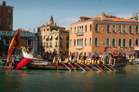 The Annual Regatta along the Grand Canal in Venice Italy Stock Photo - 18603691