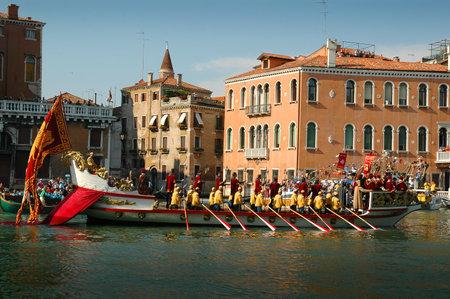 The Annual Regatta along the Grand Canal in Venice Italy Stock Photo - 18603691