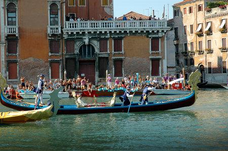 The Annual Regatta along the Grand Canal in Venice Italy Stock Photo - 18603689