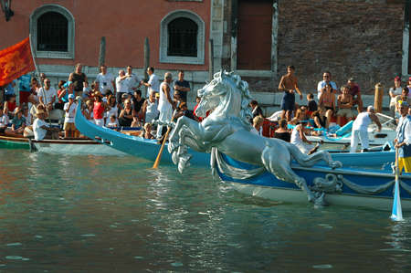doges: The Annual Regatta along the Grand Canal in Venice Italy Editorial
