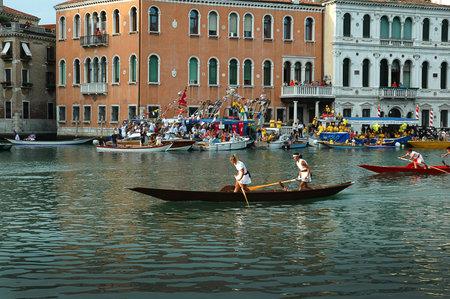 The Annual Regatta along the Grand Canal in Venice Italy Stock Photo - 18604685