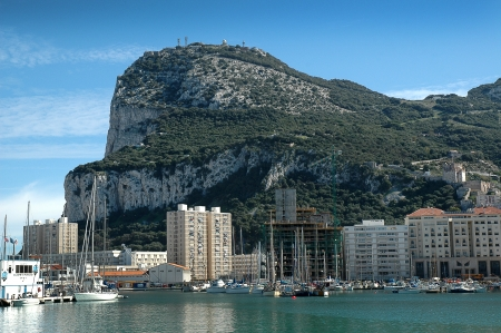 The Rock of Gibraltar from Spanish Mainland