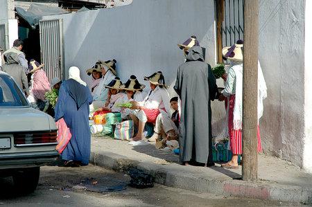 souk: Berber Women in Souk in Tangiers Africa