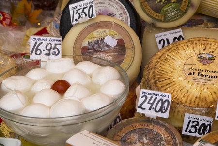 brenda kean: Speciality Cheese on the market in Campo di Fiori Rome Italy