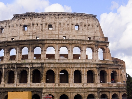 brenda kean: The Colosseum was the Flavian Amphitheatre built by Vespasian in Rome Italy Editorial