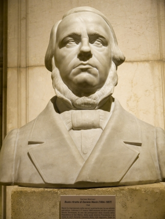 manin: Bust of Manin One of the leaders of the Risorgimento In Rome Italy Editorial