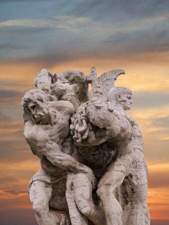 brenda kean: Statue on Bridge of Vittorio Emanuele 11 in Rome Italy