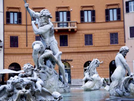 brenda kean: Fountain in the Piazza Navona in Rome Italy