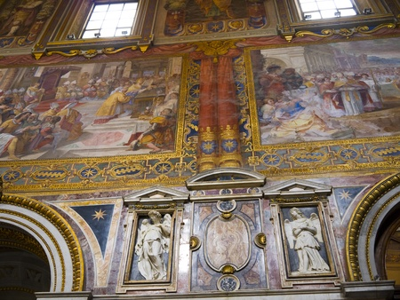 Magnificent Basilica of St John in Lateran in Rome Italy photo