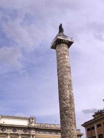 brenda kean: The column of Marcus Aurelius in Rome Italy