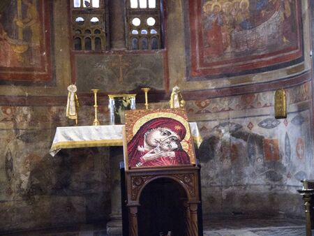 icon in the church of St Maria in Cosmedin in Rome Italy