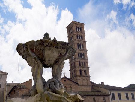 Bernini Fountain in Rome Italy